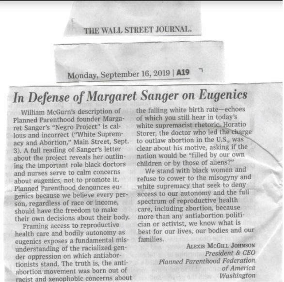 Planned Parenthood acting prez Alexis McGill Johnson defends Margaret Sanger