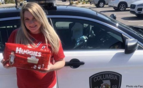 Police officer saves the day after thief steals $500 in diapers from pregnant mom