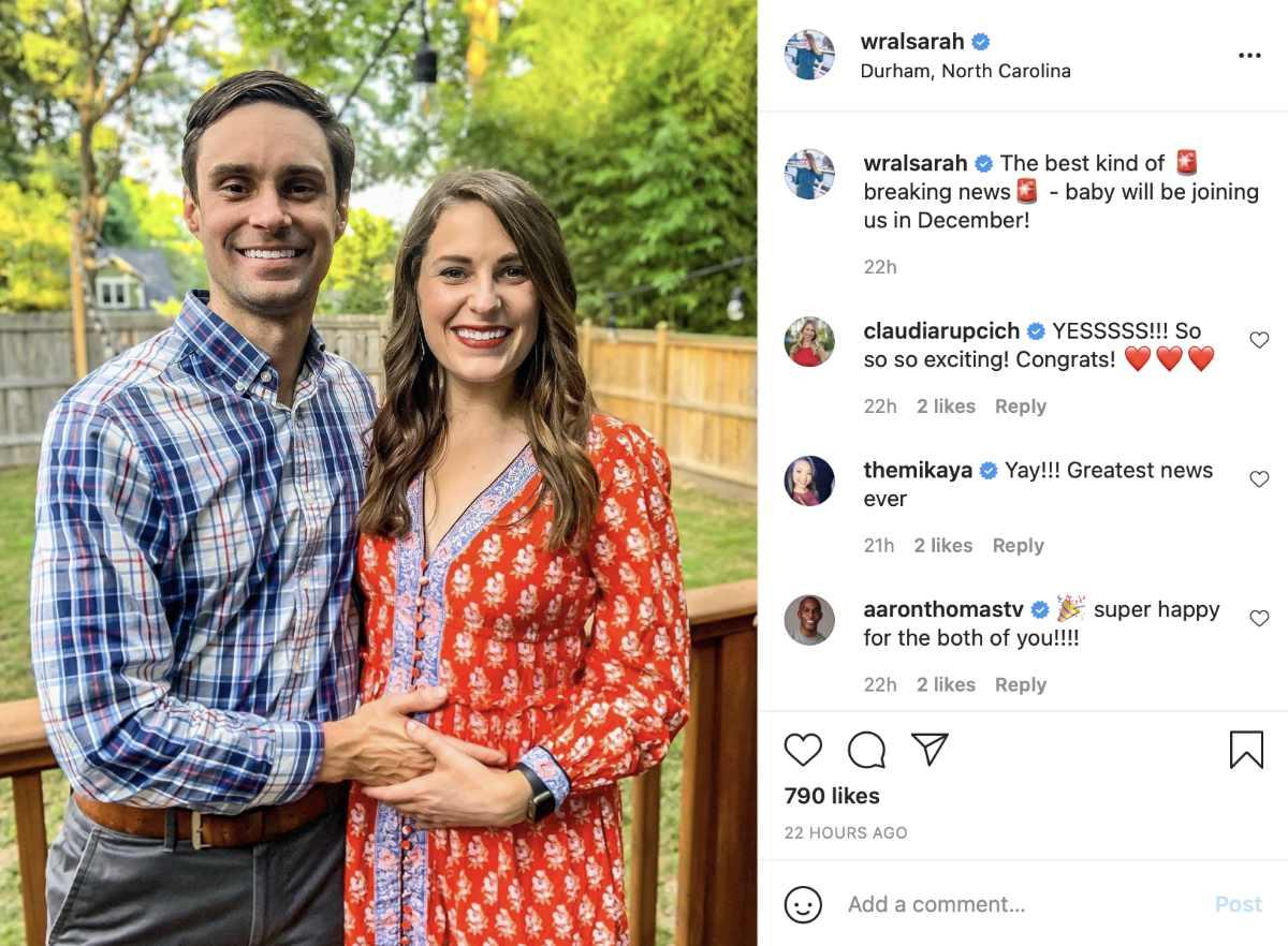 sarah krueger wral reporter instagram