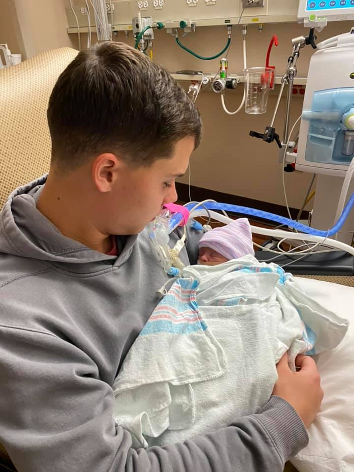 brandon russell and baby Mac