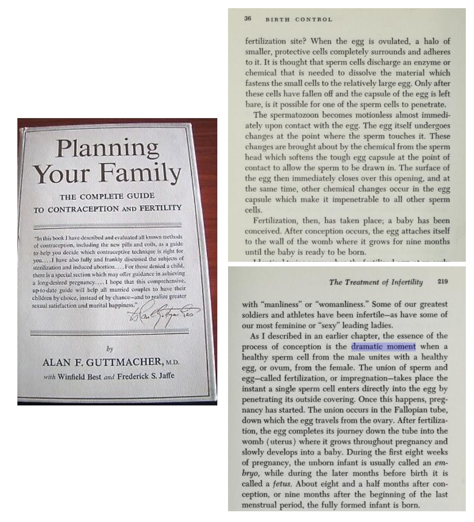 Image: Alan F Guttmacher and Frederick Jaffe on fertilization and when life begins Planning your Family 3
