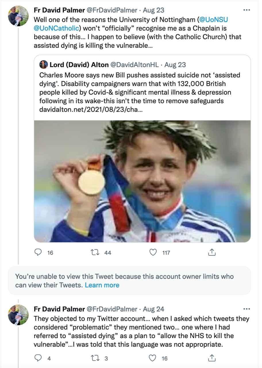 Fr. David Palmer Tweet 1