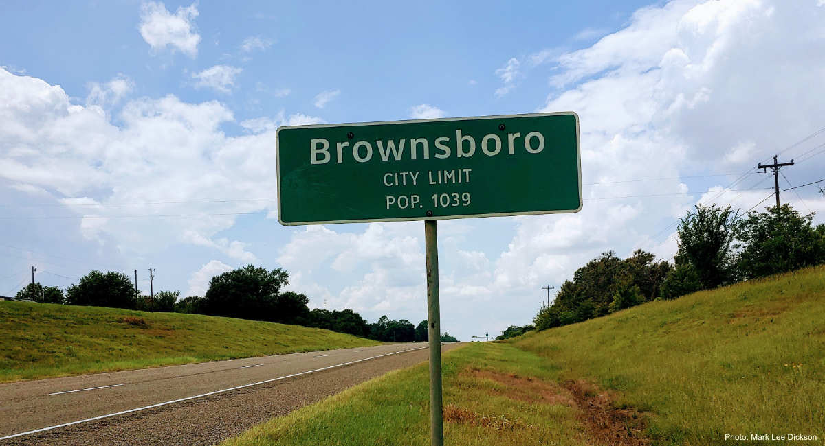 brownsboro texas sign mark lee dickson
