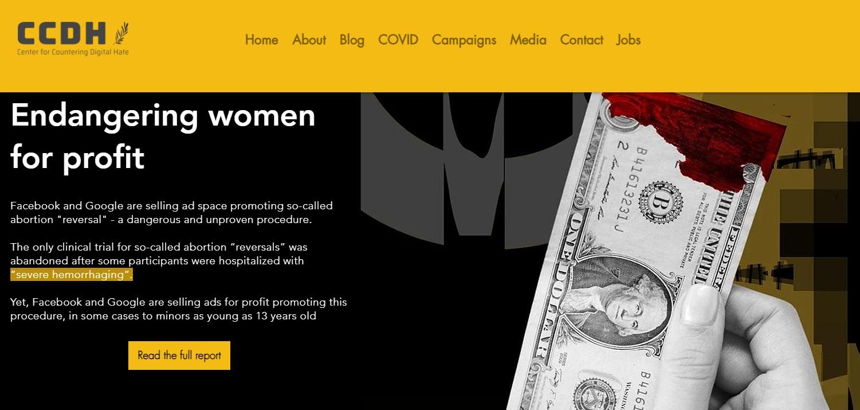 Center for Countering Digital Endangering Women for Profit Campaign 09142021
